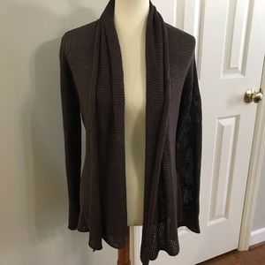 Anthro Wooden Ships open front cardigan